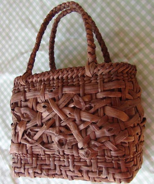 山葡萄篭編み講習