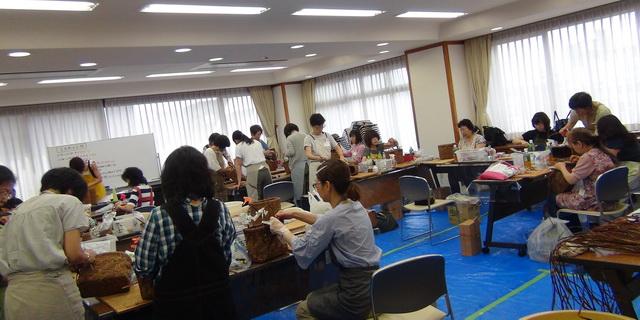 篭編み講習会